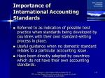 importance of international accounting standards