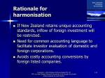 rationale for harmonisation