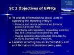 sc 3 objectives of gpfrs