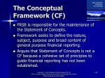 the conceptual framework cf