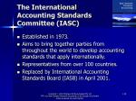 the international accounting standards committee iasc