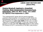 labor code section 4609 silent ppo