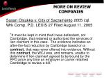 more on review companies