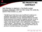 no privity no contract