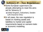 solvency ii new regulations