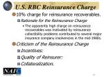 u s rbc reinsurance charge