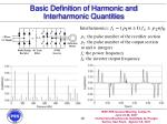 basic definition of harmonic and interharmonic quantities19