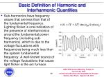 basic definition of harmonic and interharmonic quantities20