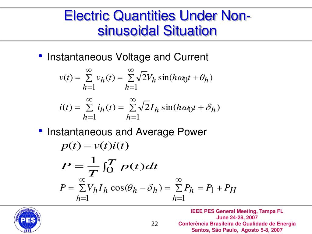 Electric Quantities Under Non-sinusoidal Situation