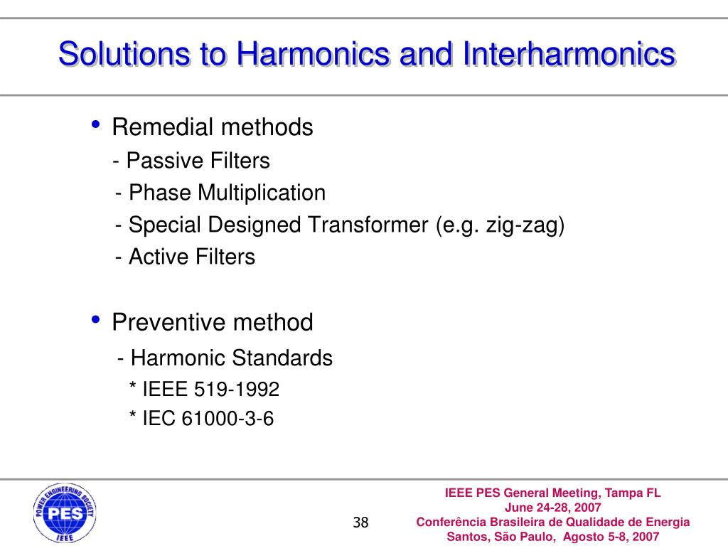 Solutions to Harmonics and Interharmonics