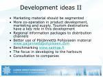 development ideas ii