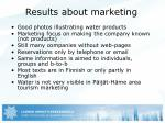 results about marketing