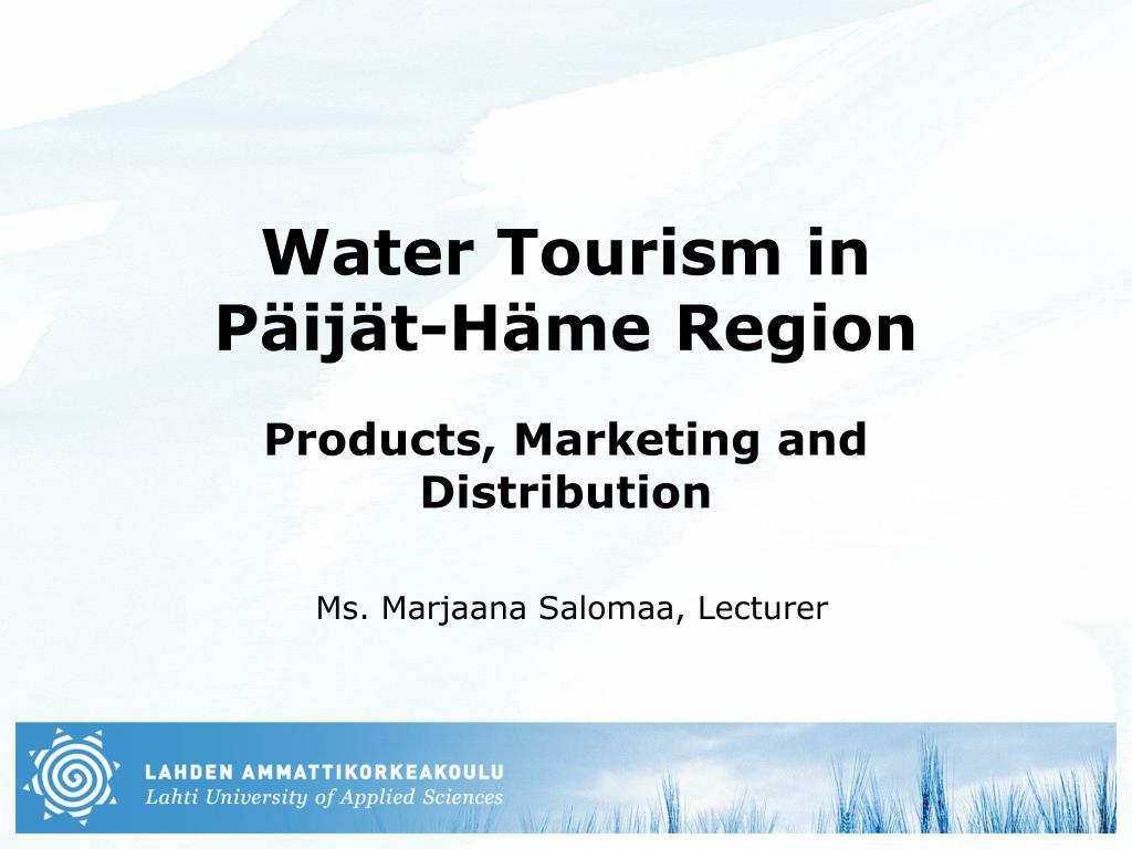 water tourism in p ij t h me region