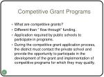 competitive grant programs