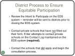 district process to ensure equitable participation