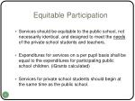 equitable participation