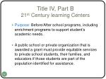 title iv part b 21 st century learning centers