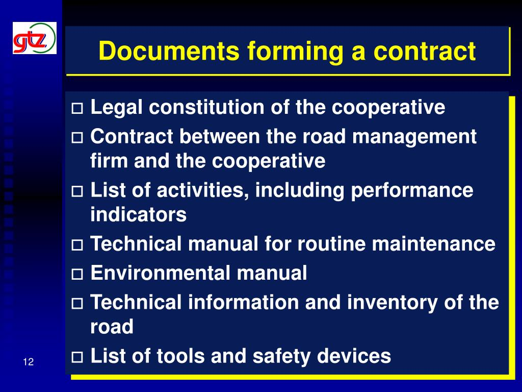 Documents forming a contract