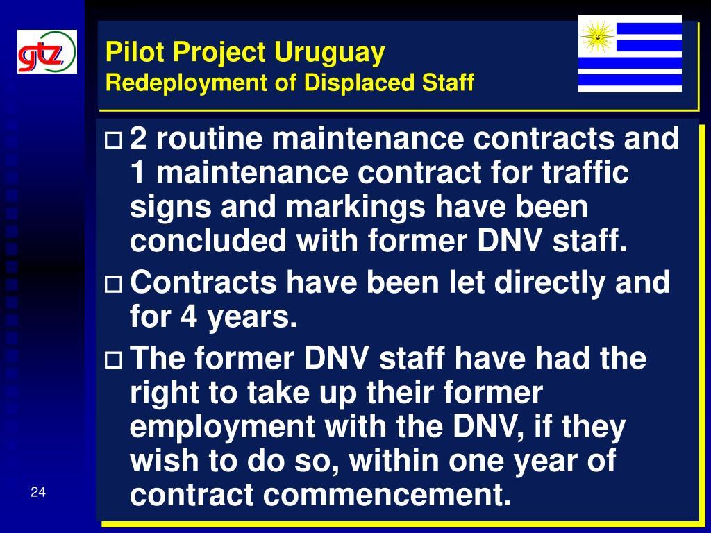 Pilot Project Uruguay