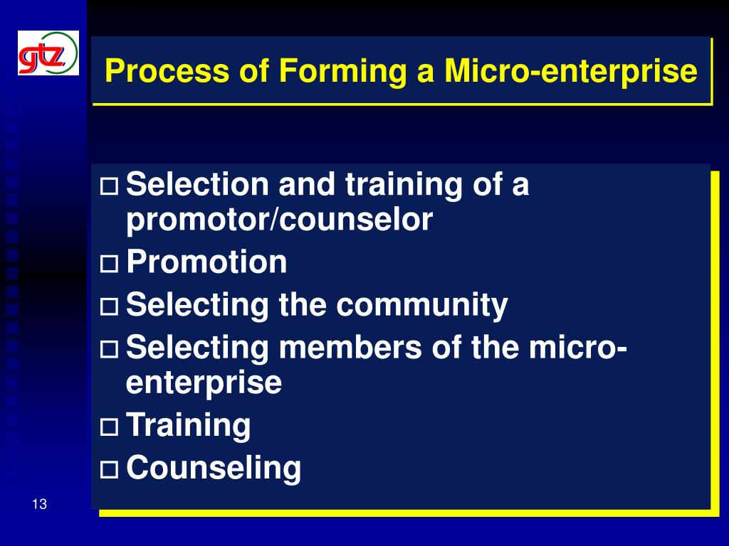 Process of Forming a Micro-enterprise