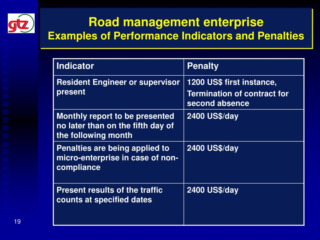 Road management enterprise