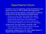 departmental culture
