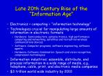 late 20th century rise of the information age