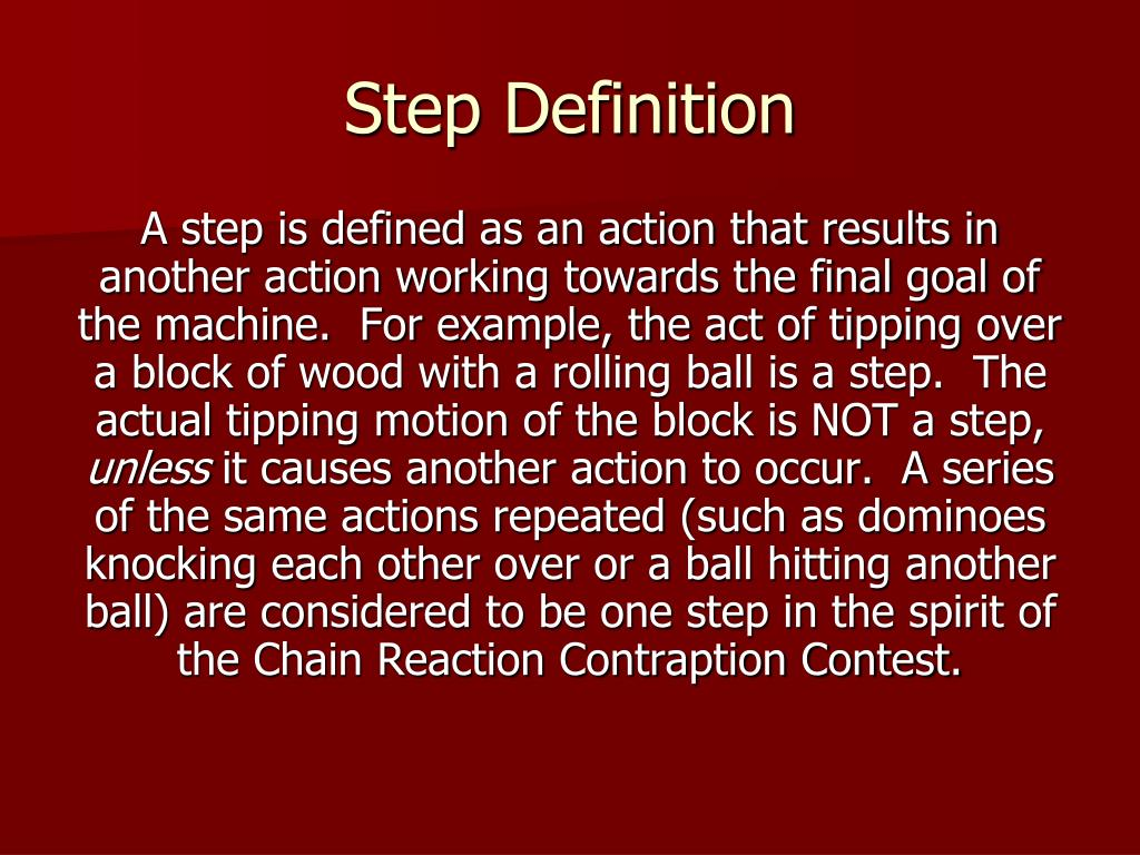 Step Definition