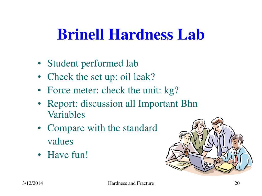 Brinell Hardness Lab