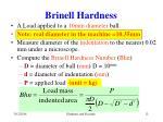 brinell hardness