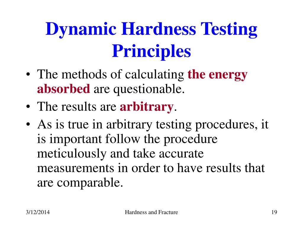 Dynamic Hardness Testing Principles