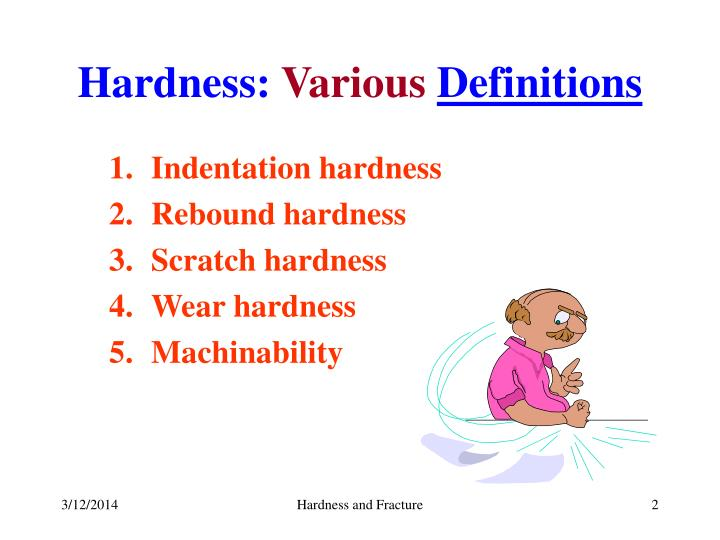 Hardness various definitions