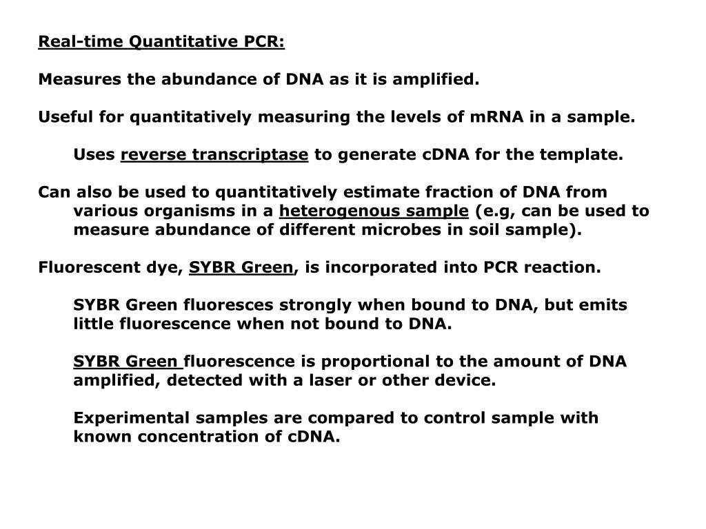 Real-time Quantitative PCR: