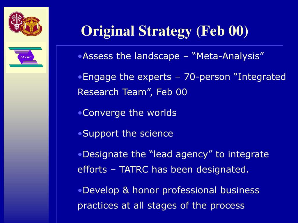 Original Strategy (Feb 00)