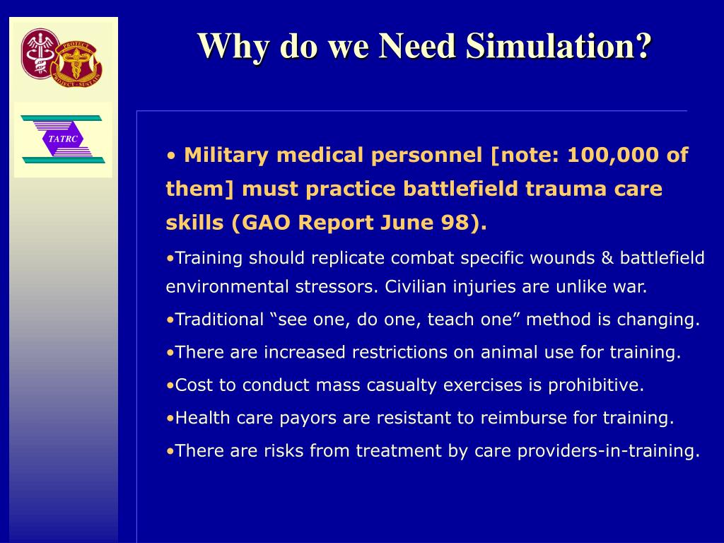 Why do we Need Simulation?
