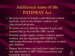additional aims of the pathway act