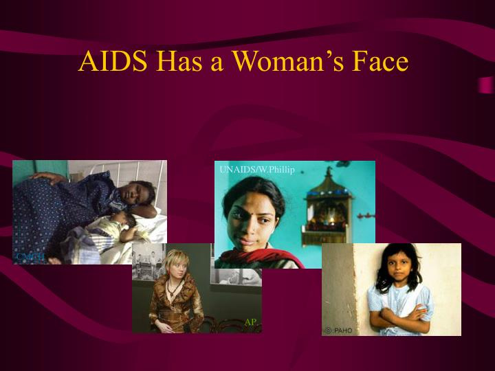 Aids has a woman s face