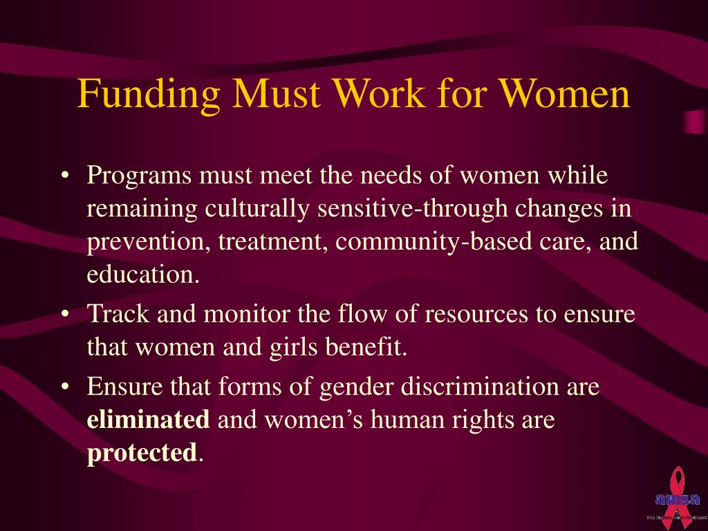 Funding Must Work for Women
