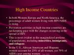 high income countries