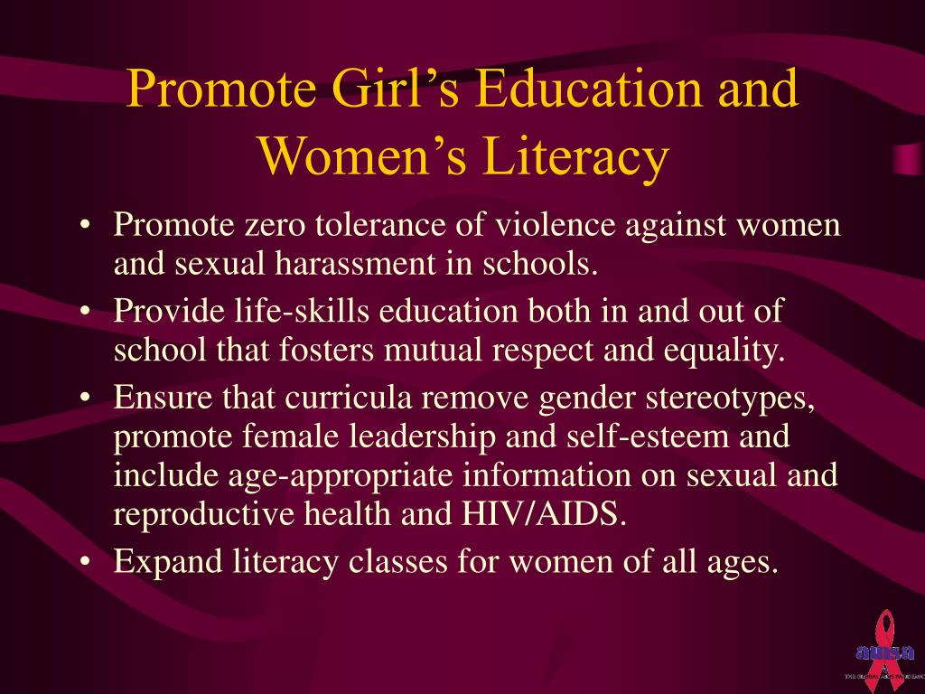 Promote Girl's Education and Women's Literacy