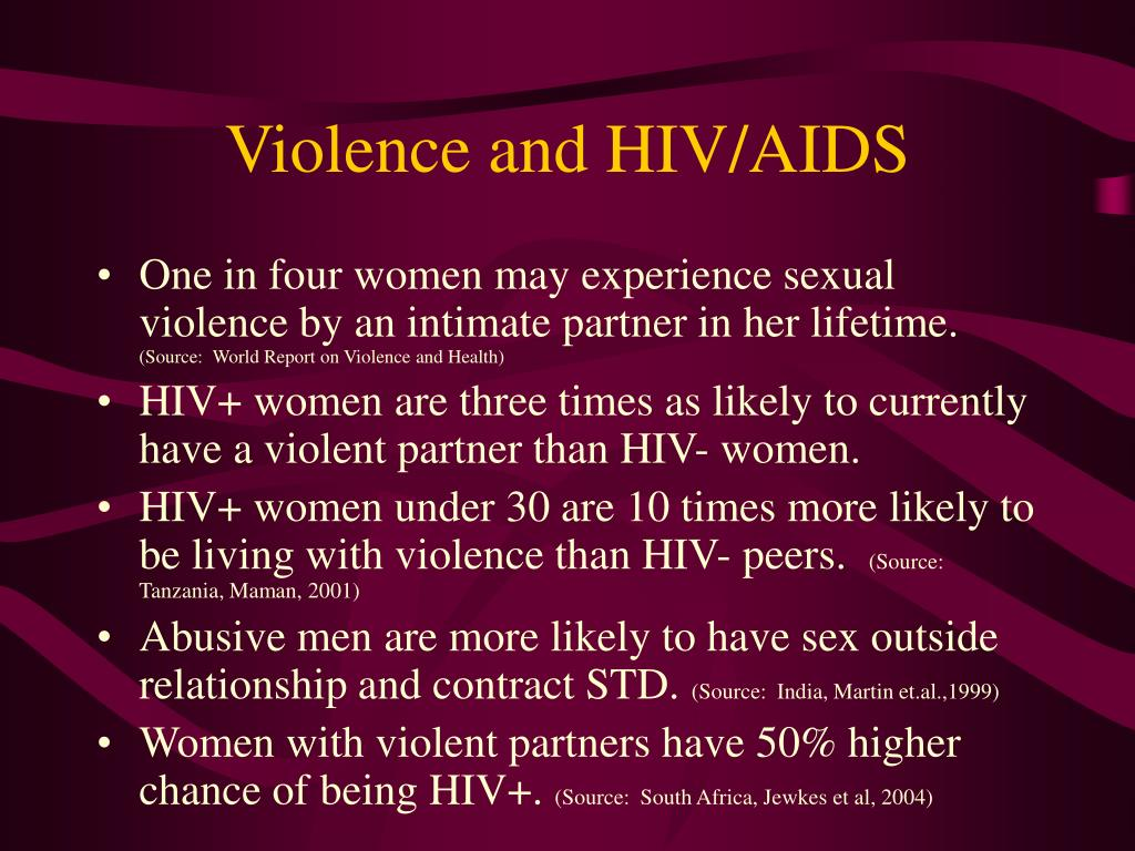 Violence and HIV/AIDS