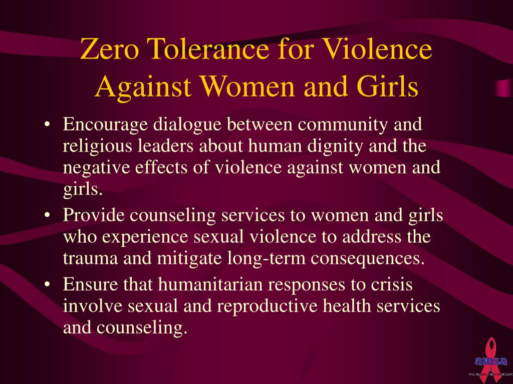 Zero Tolerance for Violence Against Women and Girls