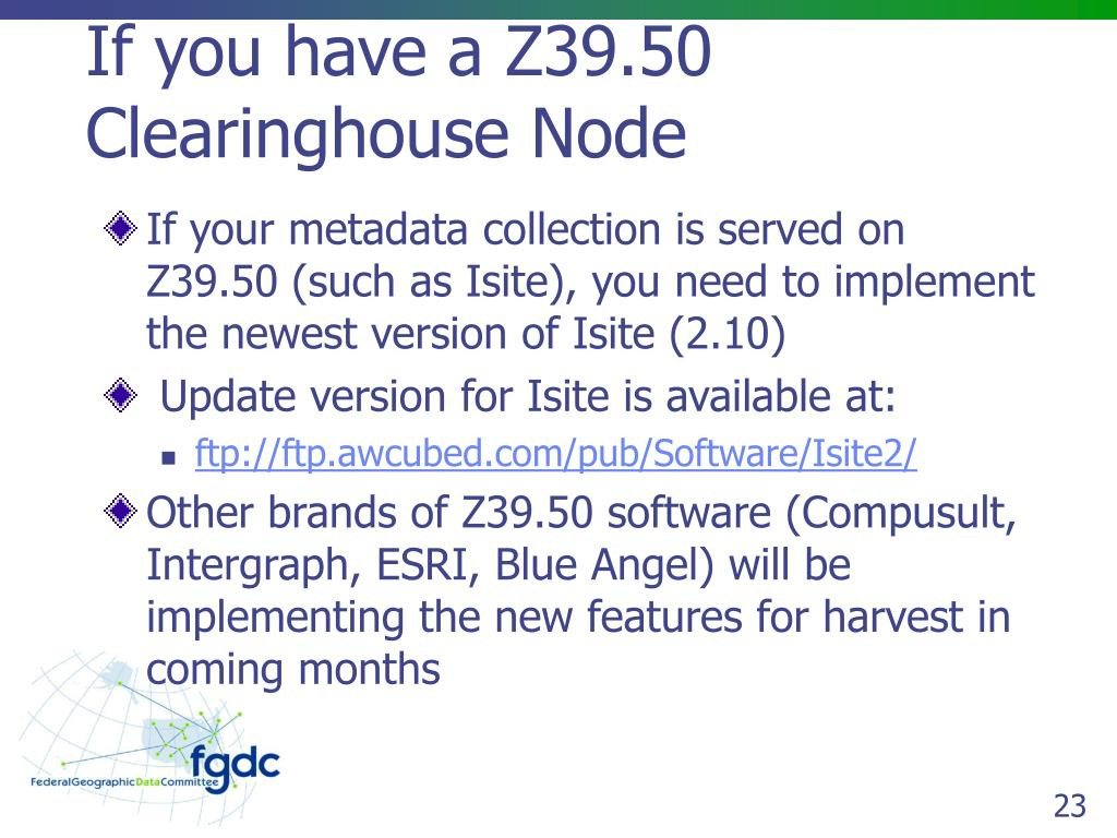 If you have a Z39.50 Clearinghouse Node