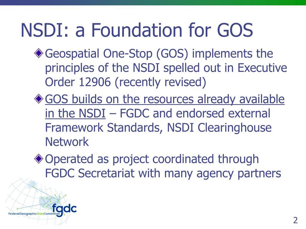 NSDI: a Foundation for GOS