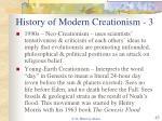 history of modern creationism 3