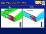 cd velocity m s