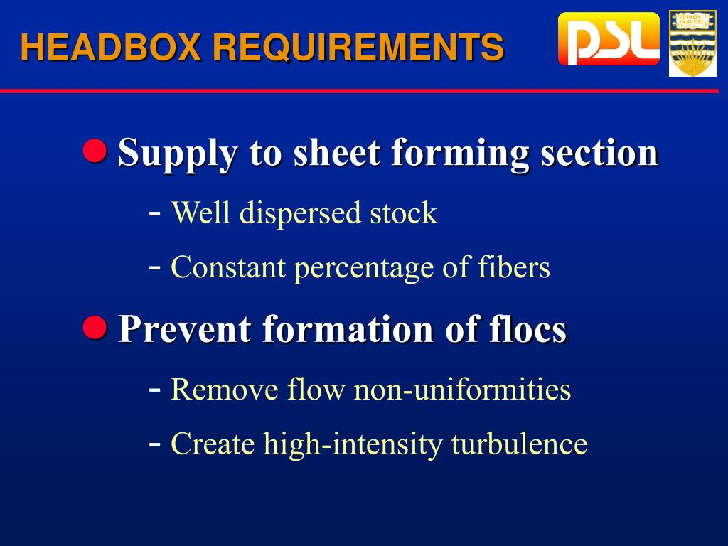 HEADBOX REQUIREMENTS