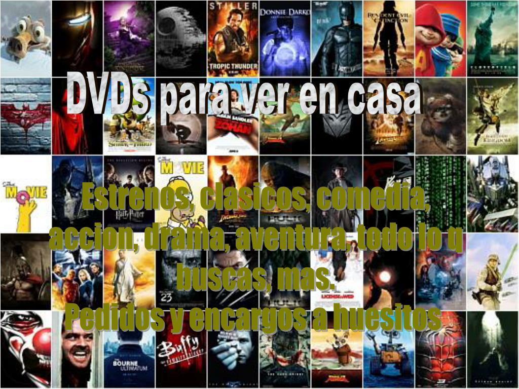 DVDs para ver en casa