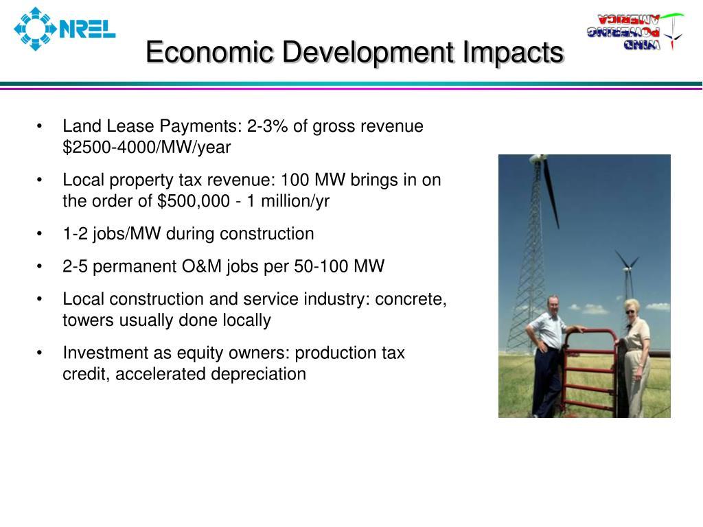 Economic Development Impacts