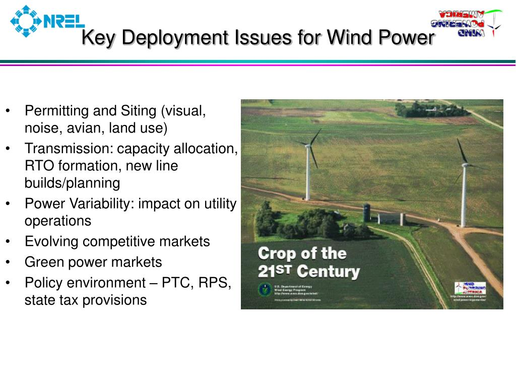 Key Deployment Issues for Wind Power